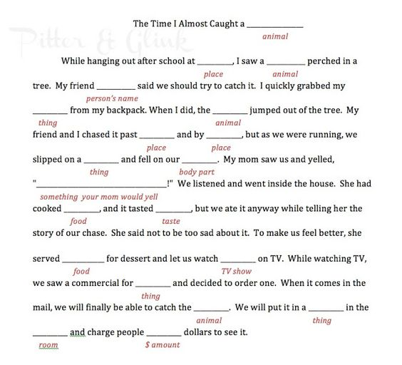 16 Best Images About Mad Camping On Pinterest: Free Printable Camp Themed Mad Lib