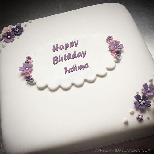 Fatima Happy Birthday Butter Birthday Cake For Fatima Birthday