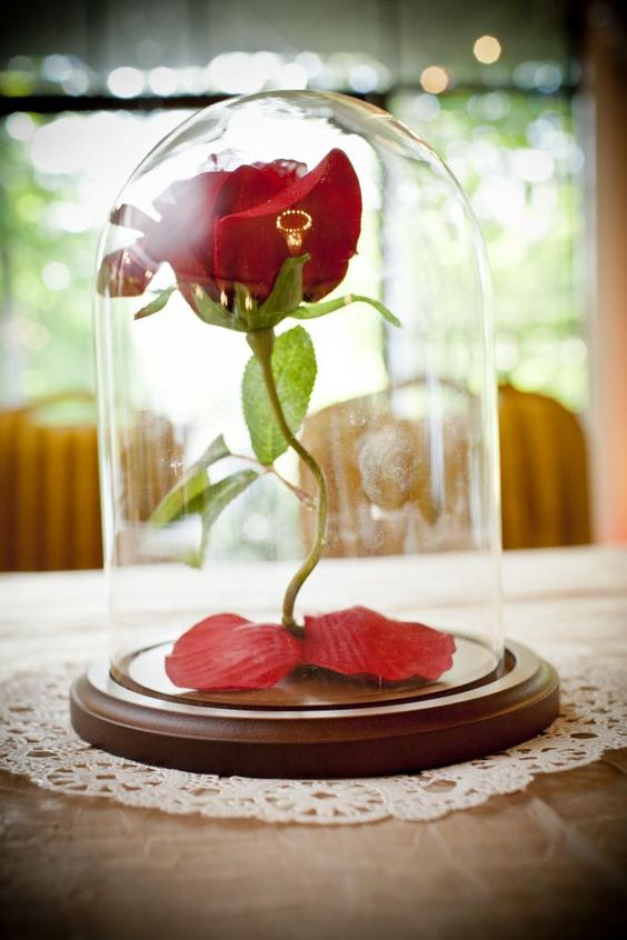 Sweetheart Table Centerpiece. Beauty and the Beast Wedding.: