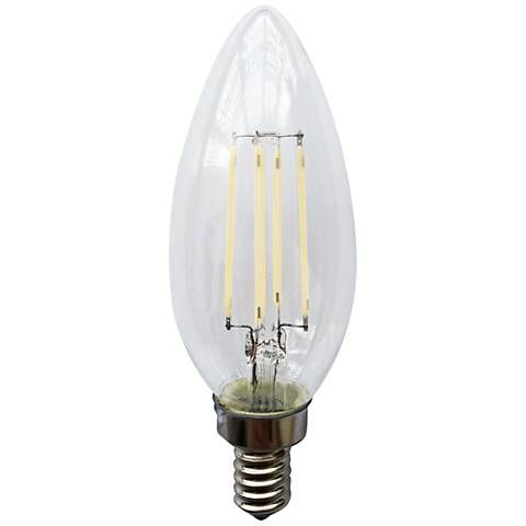 Clear 4 Watt E12 Candelabra Base Filament Led Light Bulb 32t21 Lamps Plus Led Light Bulb Led Bulb Filament Bulb Lighting