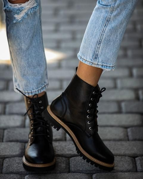 PREORDER - Brycen Faux Leather Lace Up