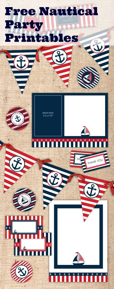 Free Nautical Party Printables from Ian & Lola Designs | Party ...