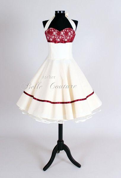 Wunderschönes  50er Jahre Brautkleid Marie II kurz