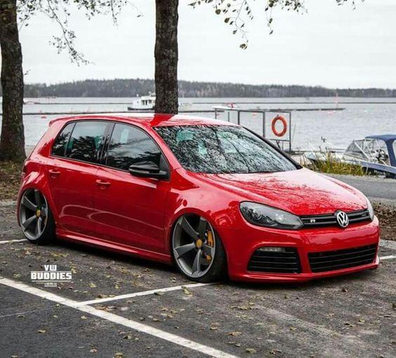 5 Doors Un Red But Cool Volkswagen Mk6 Gti Car Volkswagen