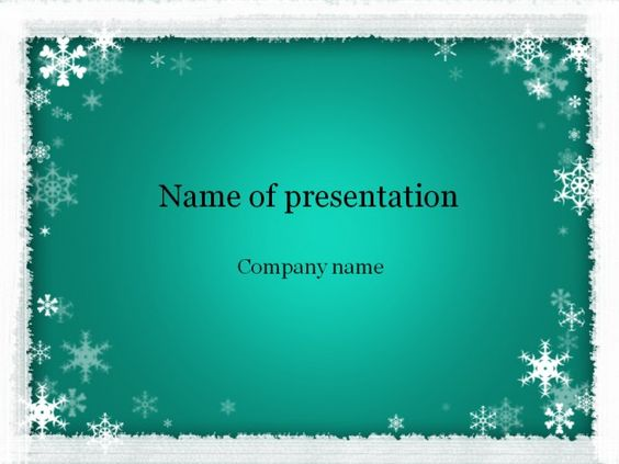 Templates, Winter and Nice on Pinterest - winter powerpoint template