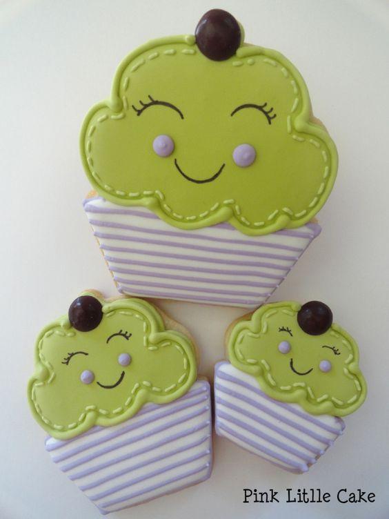 Recipe for Smiling Cupcake Cookies - sooo cuuute!