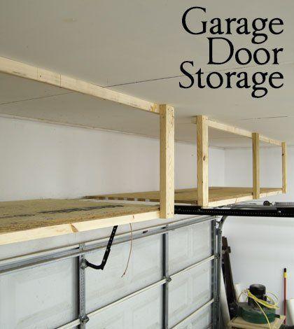 adding storage above the garage door great tutorial. Black Bedroom Furniture Sets. Home Design Ideas