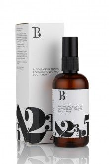 """""""Bloom and Blossom's Revitalising Leg & Foot Spray is perfect for refreshing those achy, swollen legs in the summer."""""""