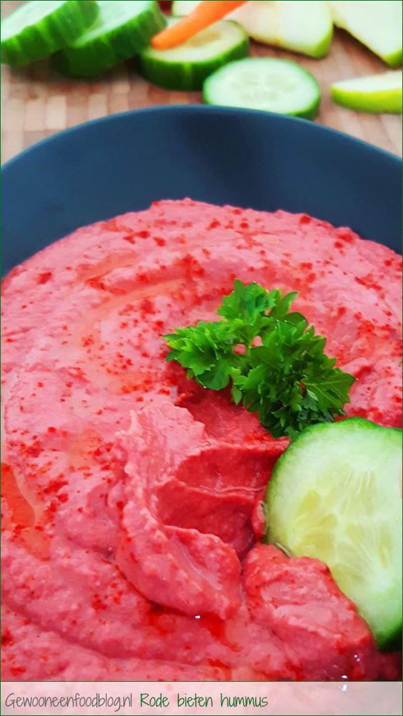 Rode bieten hummus | Gewooneenfoodblog.nl!