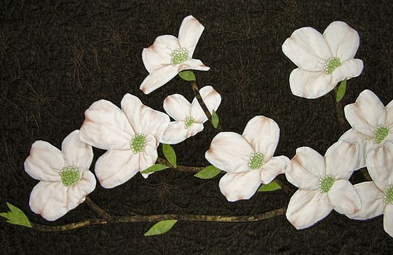 "Dogwood,  20"" x 38"". By Kate Themel  So realistic!"