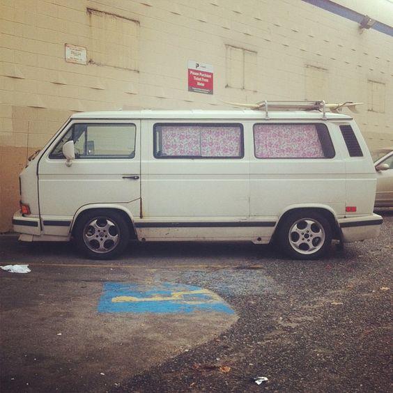 Slammed surf bus! #vw #bus #vanagon by theskinnyone