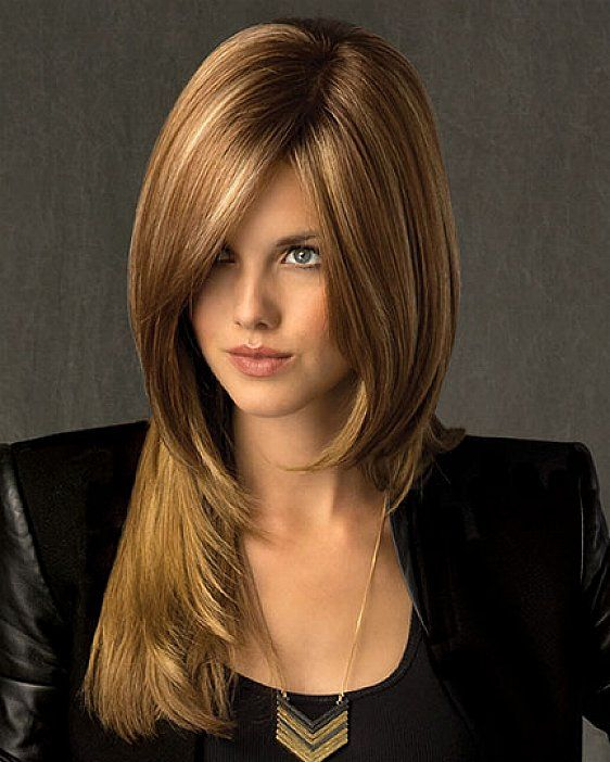 Side Bangs, Face Framing Layers And Long Side Bangs On