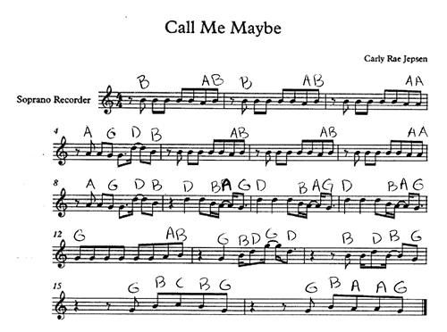 recorder notes with letters call me maybe notes for recorder leff nycole 24228