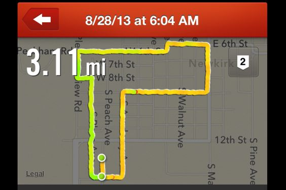 My farthest run so far. I need to heal and get back out there!