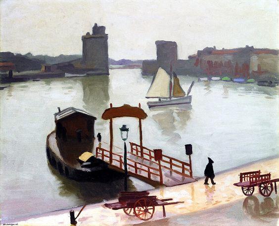 The Port at La Rochelle / Albert Marquet - 1924