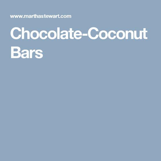 Chocolate-Coconut Bars