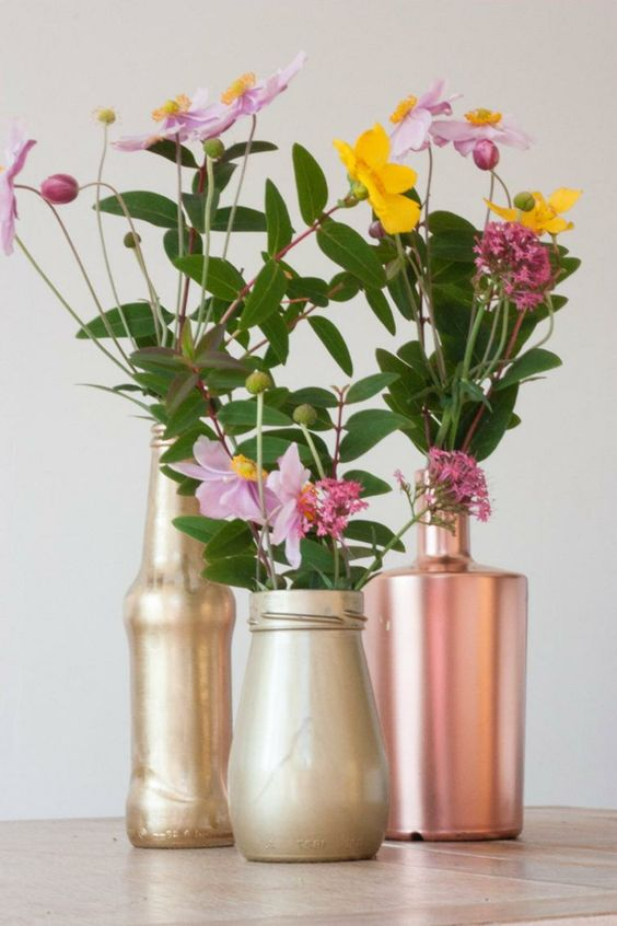 kreative wohnideen dekoideen einmachgl ser bemalen vasen. Black Bedroom Furniture Sets. Home Design Ideas
