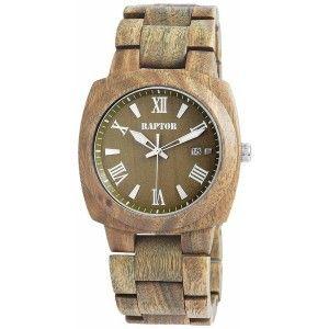 raptor herrenuhr holz-armbanduhr olivgrün holzuhr | holzuhren für, Moderne