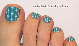 Chloe is into nail art designs and is always looking for cute girly styles. I like this one.