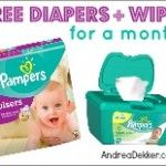Free Pampers Diapers and Wipes for a Month!