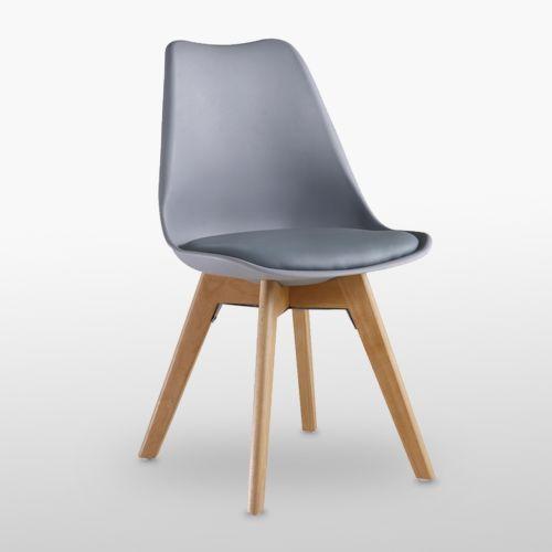 Jamie Tulip Dining Chair With Padded Seat Lorenzo Eiffel Inspired Wood Legs Uk Ebay Dining Chair Pads Dining Chairs Upholstered Dining Chairs