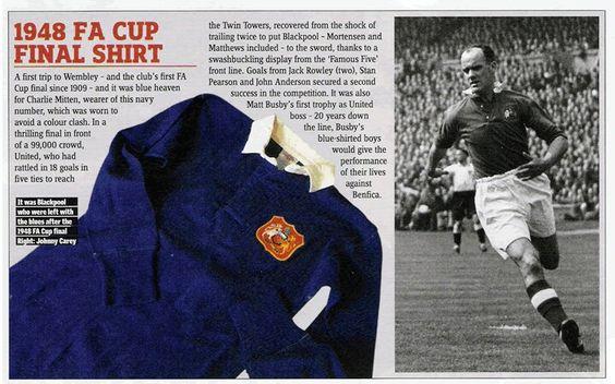 Man Utd's FA Cup winning shirt in1948