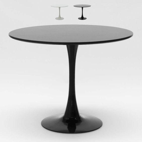 Rund Tisch 80x80 Cm Inneneinrichtung Kaffee Bistro Lokale Weiss Schwarz Tulip In 2020 Esstisch Metall Esstisch Edelstahl Esstisch