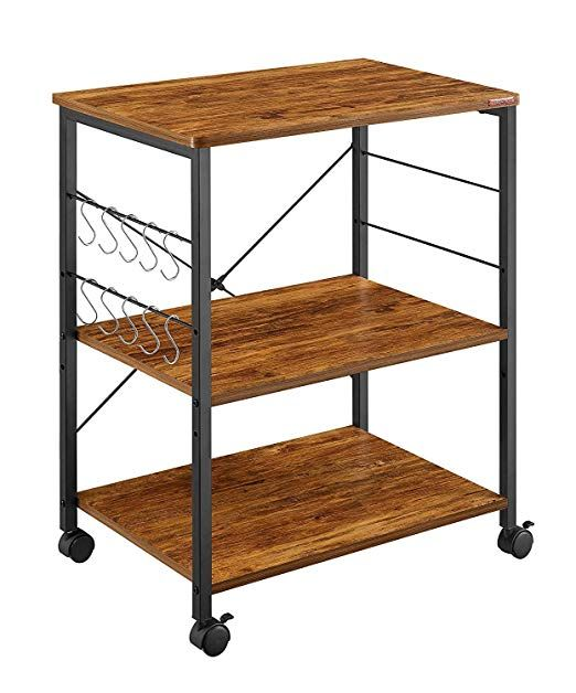 Amazon Com Mr Ironstone Kitchen Microwave Cart 3 Tier Kitchen