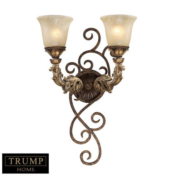 Regency 2-Light Wall Sconce in Burnt Bronze