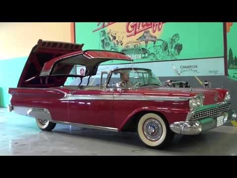 1959 Ford Fairlane 500 Galaxie Skyliner Youtube Ford Fairlane Classic Cars Ford Fairlane 500