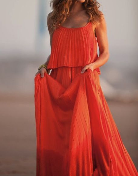 coral long dress...ohh my i love it all