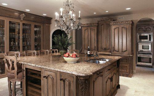 LED lighting chandelier?  Fabulous!  traditional kitchen by Kleppinger Design Group, Inc.