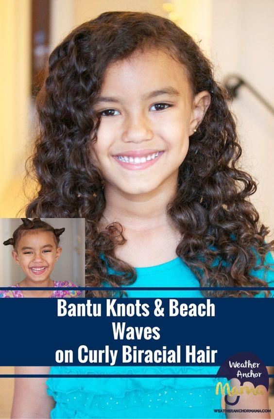 Bantu-Knots-Waves-Curly Biracial-Hair