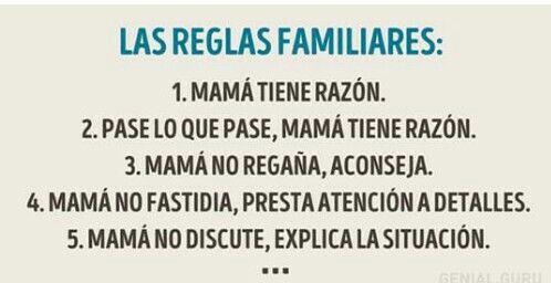 Reglas familiares