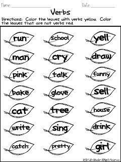 fall identifying verbs freebie first grade friends pinterest fall and 1st grades. Black Bedroom Furniture Sets. Home Design Ideas