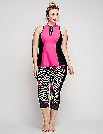 Sun Protection Swim Capri Legging | Lane Bryant Finds | Pinterest ...
