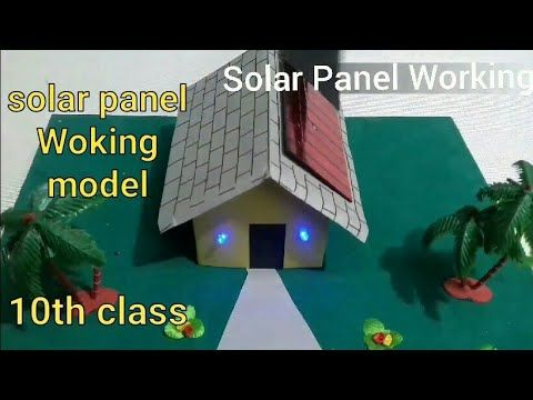 Solar Panel Working Project Working Science Project Model 10th Class Science Project In 2020 Science Project Models Science Projects Science Project Working Model