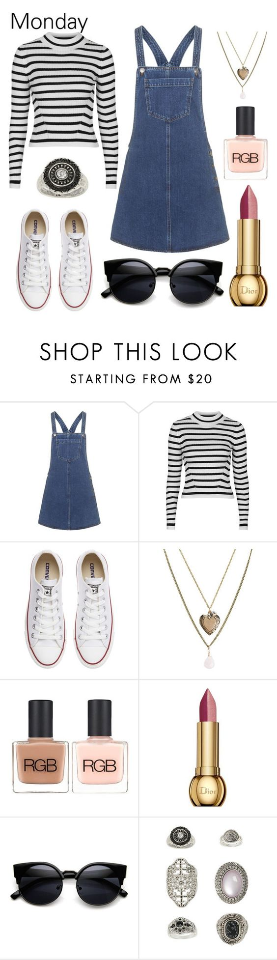 """""""OOTD - Sunday, January 31st"""" by musicpandas on Polyvore featuring Topshop, Converse, Aéropostale, RGB, Christian Dior, women's clothing, women, female, woman and misses"""