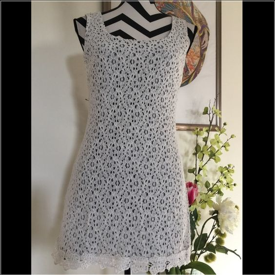 Wet Seal Lace Cotton White Dress 🌺Big sale on bundles🌺 🌻2 items 15% off  🌻3 items 25% off  🌻5 items 40% off.            Wet Seal Lace Cotton White Dress  Size M Bust: 34 inches Waist: 29 inches Length: 30 inches  Full lining. New without tag. Wet Seal Dresses