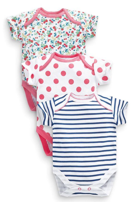 Buy Three Pack Floral Stripe Bodysuits (0mths- 2yrs) online today at Next: Deutschland