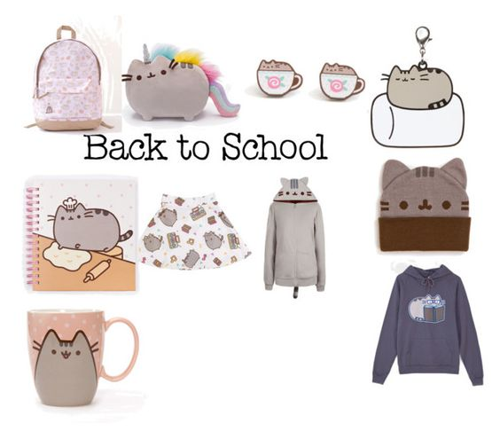 """""""#PVxPusheen"""" by christine-kirschman-favinger ❤ liked on Polyvore featuring Pusheen, contestentry and PVxPusheen"""
