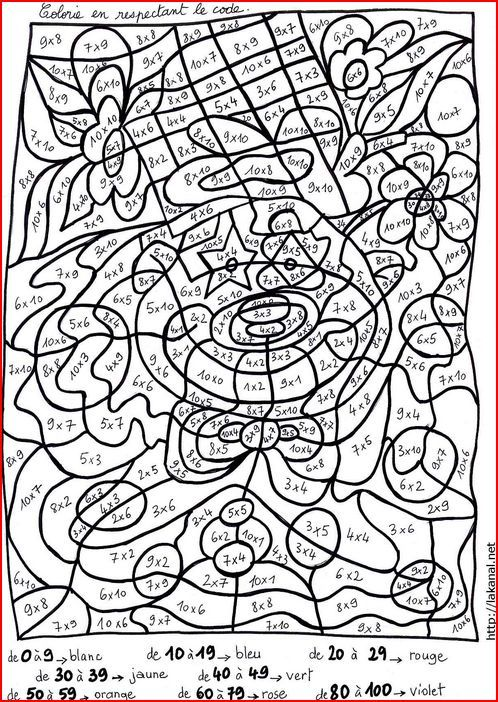 Multiplication on pinterest - Coloriage multiplication ...