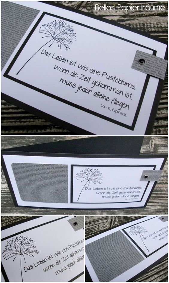 {Bellas} Papierträume: Trauerkarte