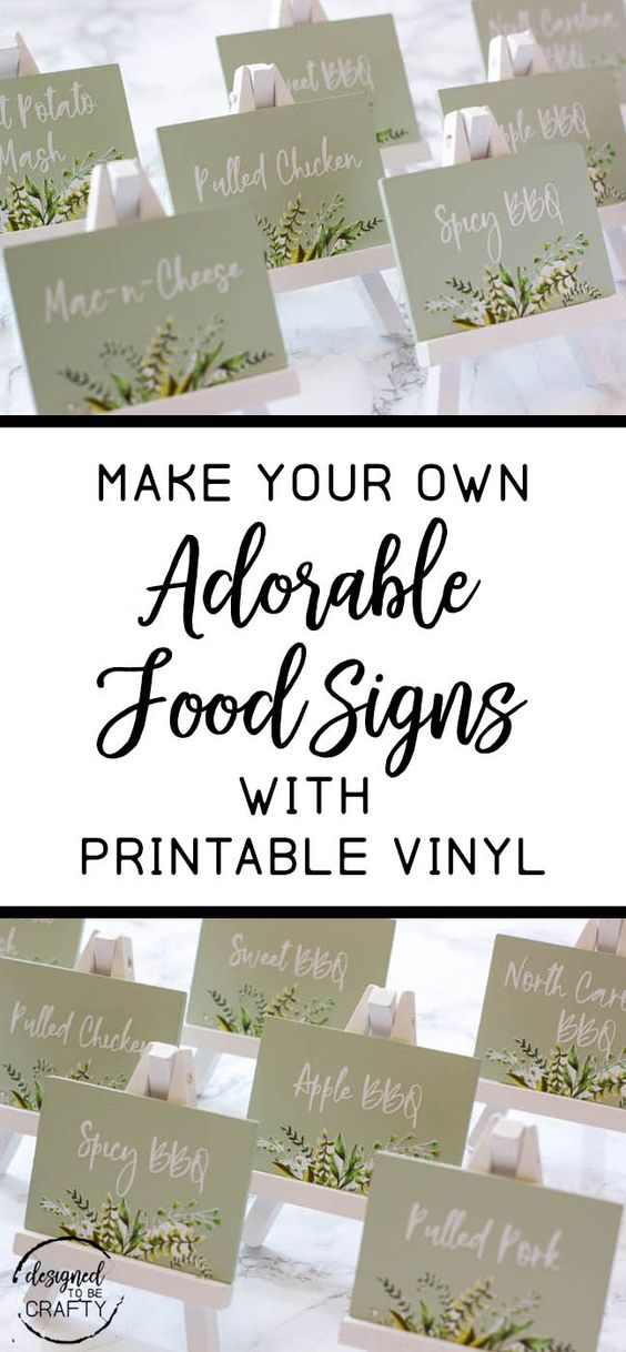 How to make adorable food label signs with printable vinyl
