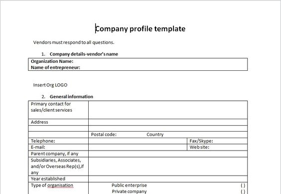 Company Profile Template Microsoft Word Templates Pinterest - profile template word