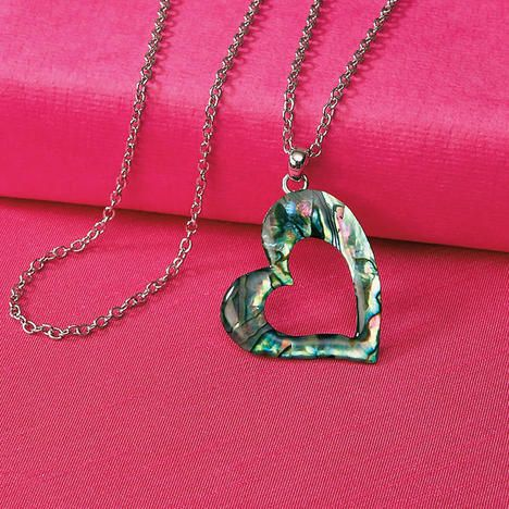 Heart Abalone Necklace