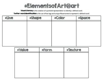 Printables Elements And Principles Of Art Worksheet free tweet the elements and principles of art printable worksheets