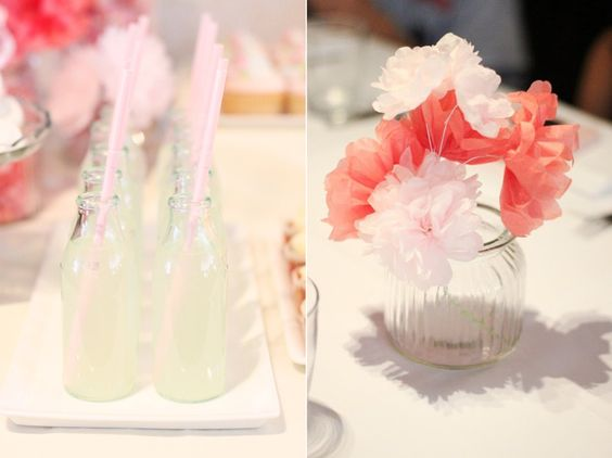 pink-birthday-party-lemonade-paper-flowers-party-decorations