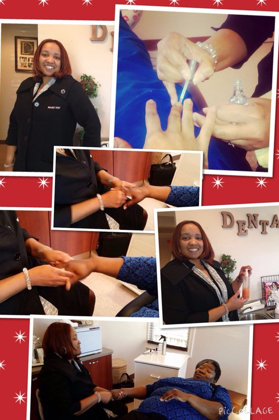 Going the a Extra mile to make you SMILE..... #minimanicures #dentalspa #wowWednesday #smile