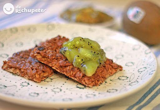galletas de avena y kiwis